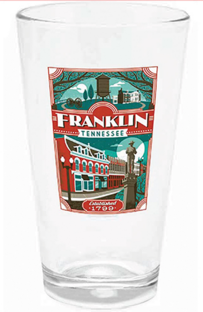 Franklin 16 oz pub glass SPN