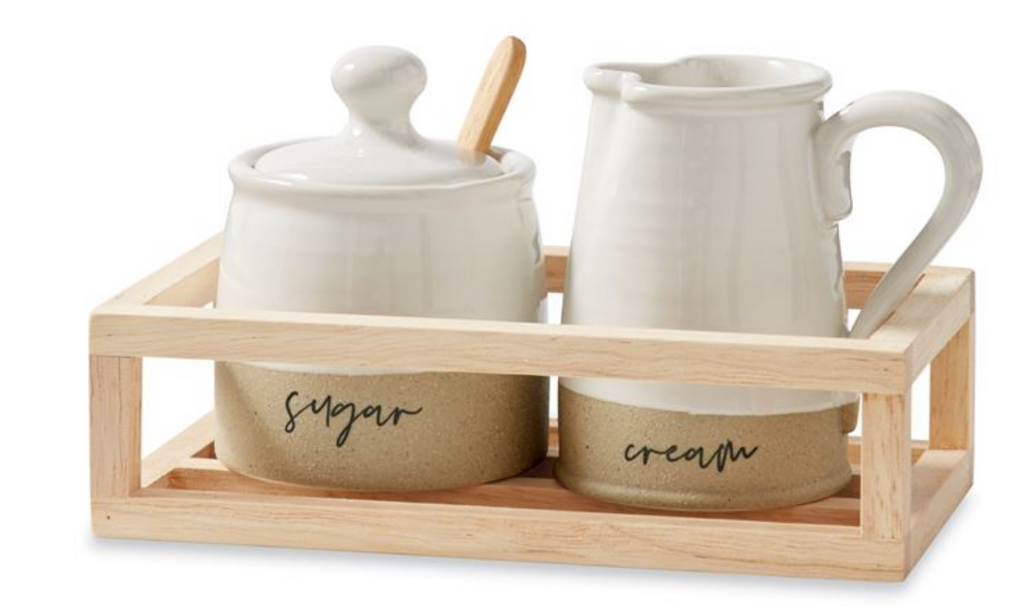 Cream & Sugar Crate Set