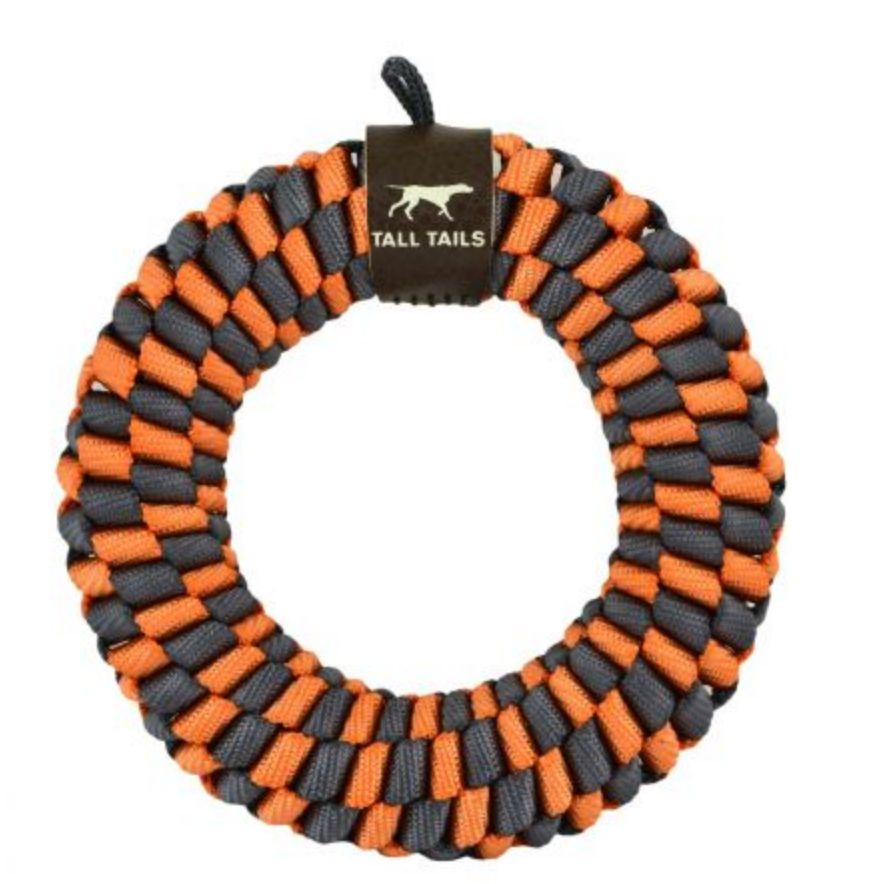 Lg Orange Braided Ring Toy