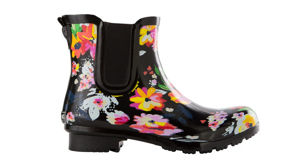 Roma Boots - Chelsea - Black Floral
