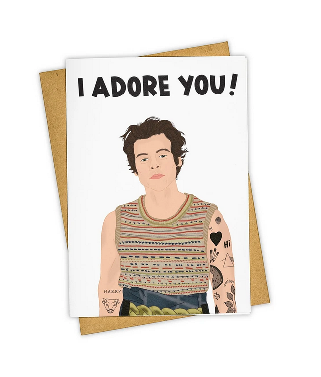 Tay Ham Card - Harry I Adore You!