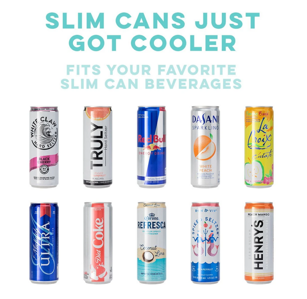 Swig Black Skinny Can Cooler