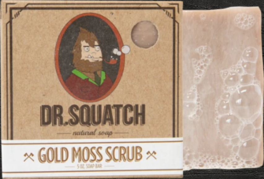 Bar Soap Gold Moss Scrub