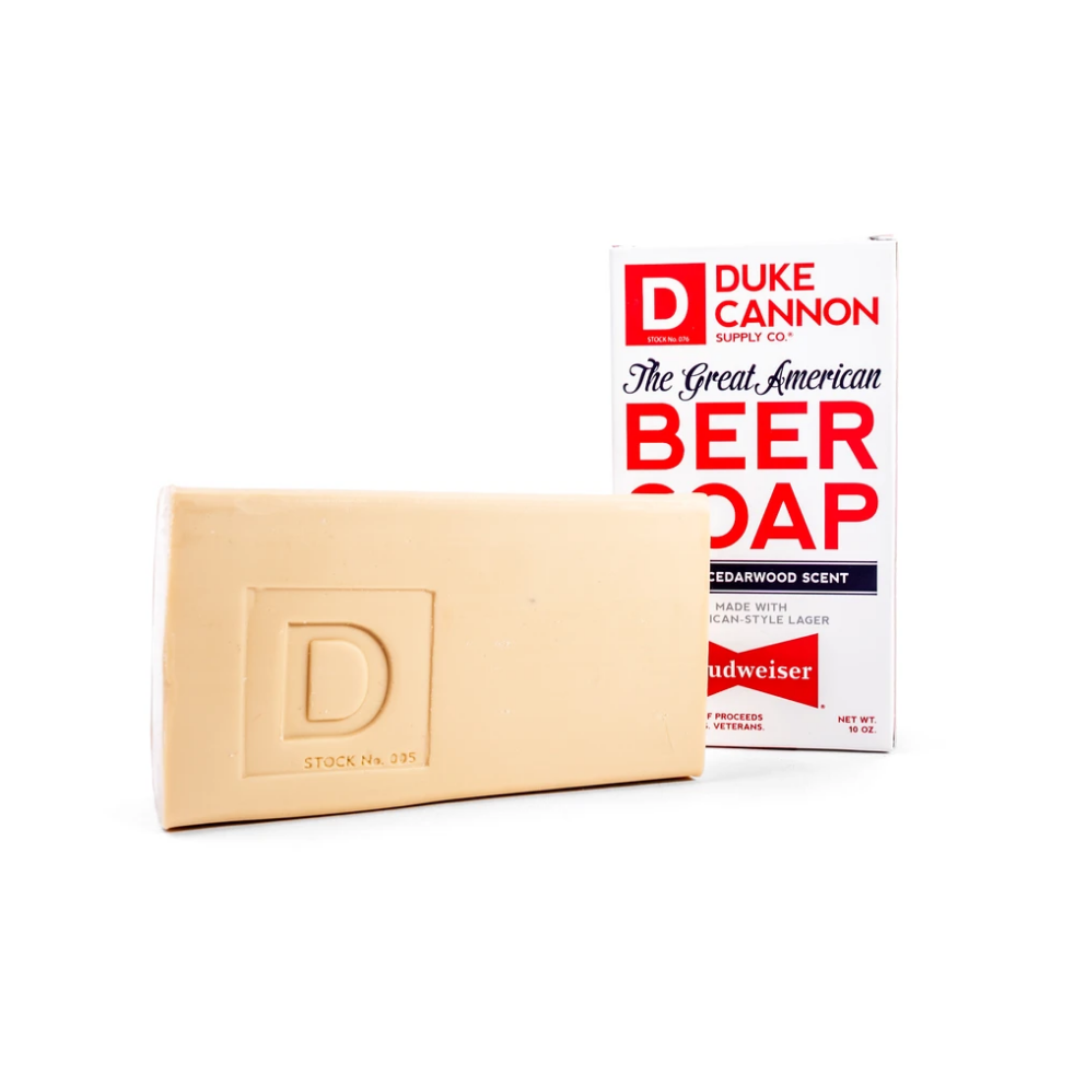 Duke Cannon Great American Beer Soap - Made with Budweiser