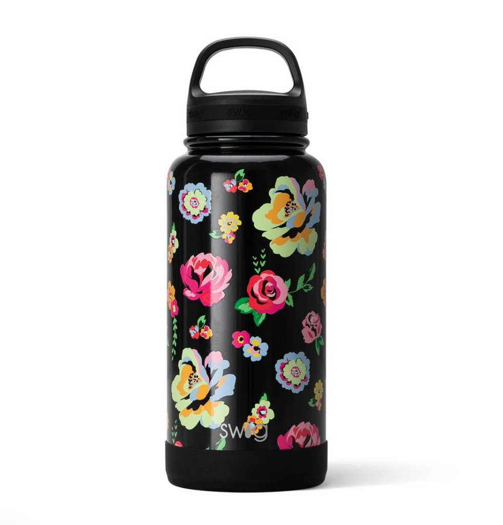 Swig 30oz Bottle with Twist Lid - Fleur Noir