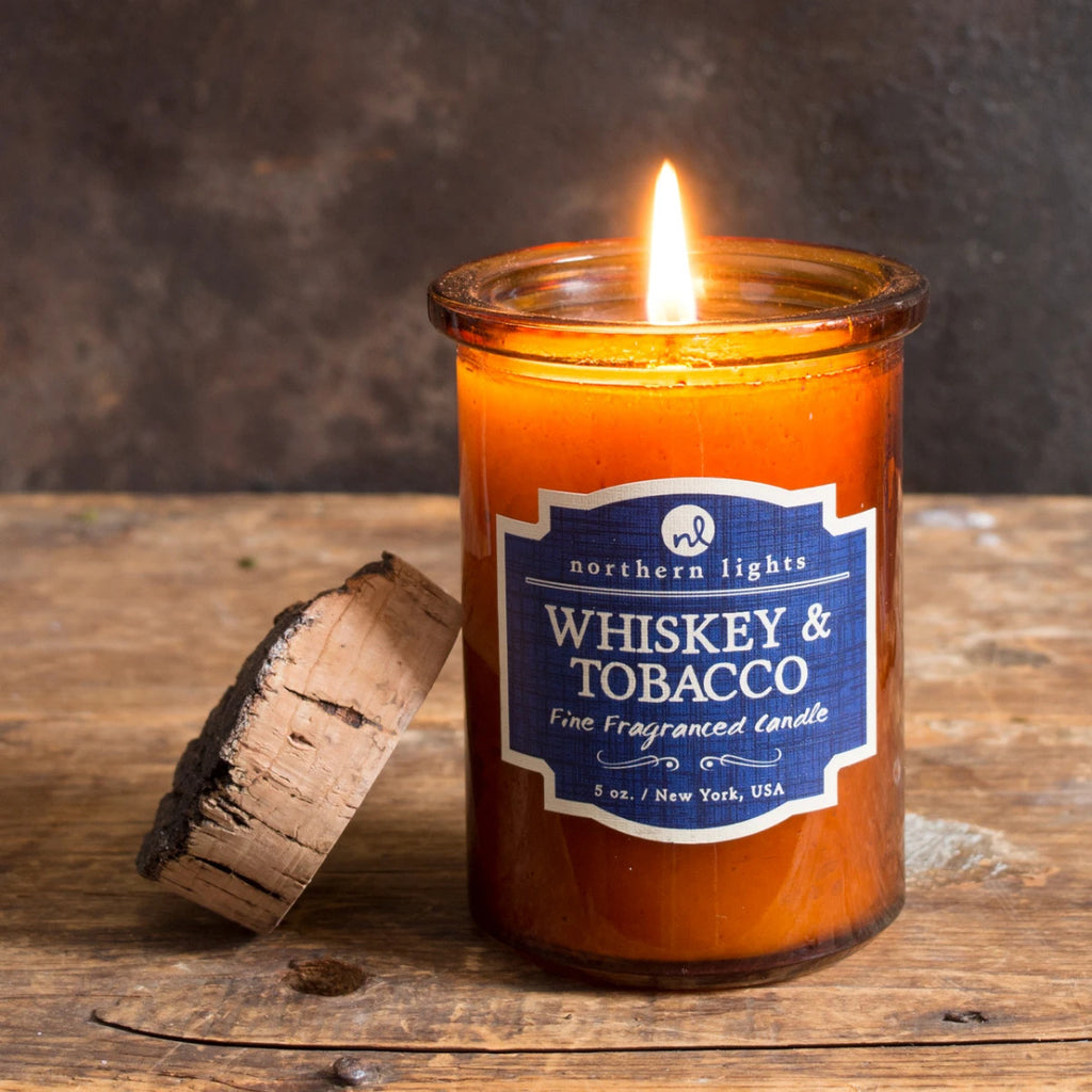 Spirit Jar Candle- Whiskey & Tobacco