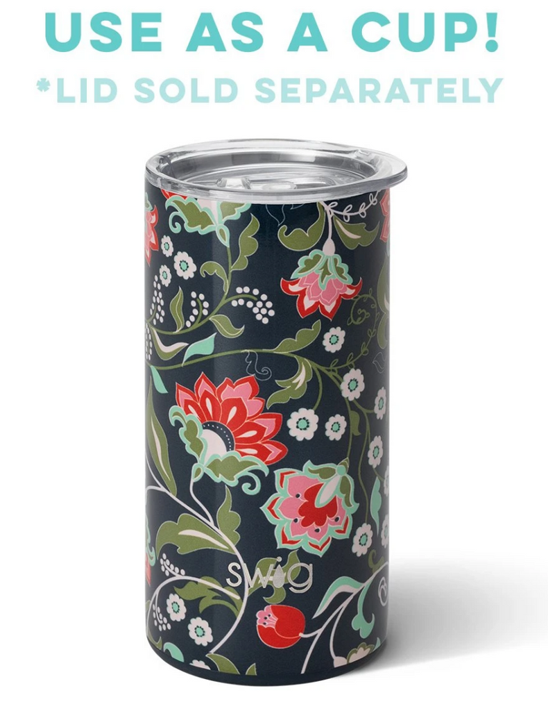 Swig 12oz Skinny Can Cooler Lotus Blossom