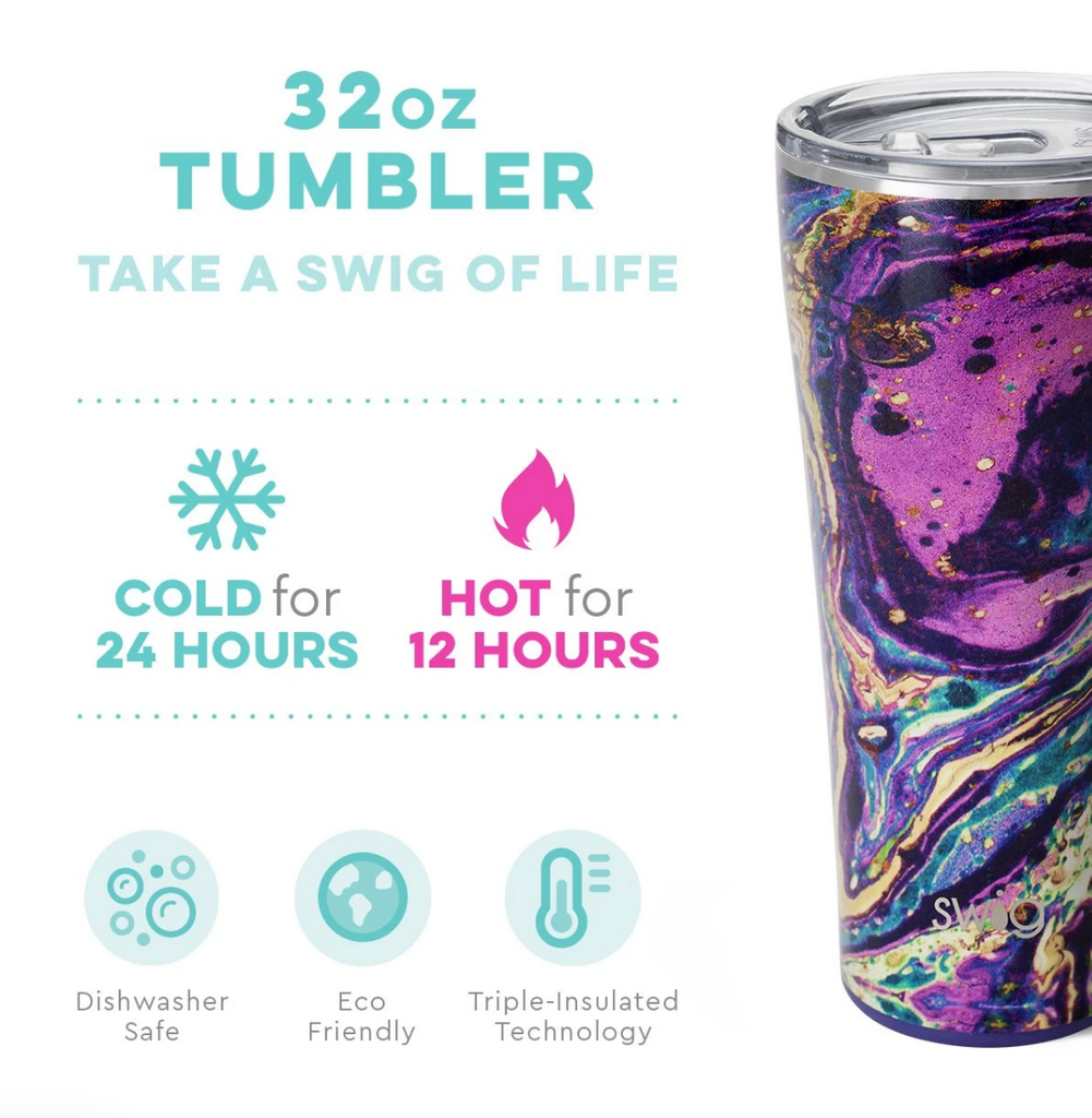 Swig 32oz Large Tumbler Purple Rain