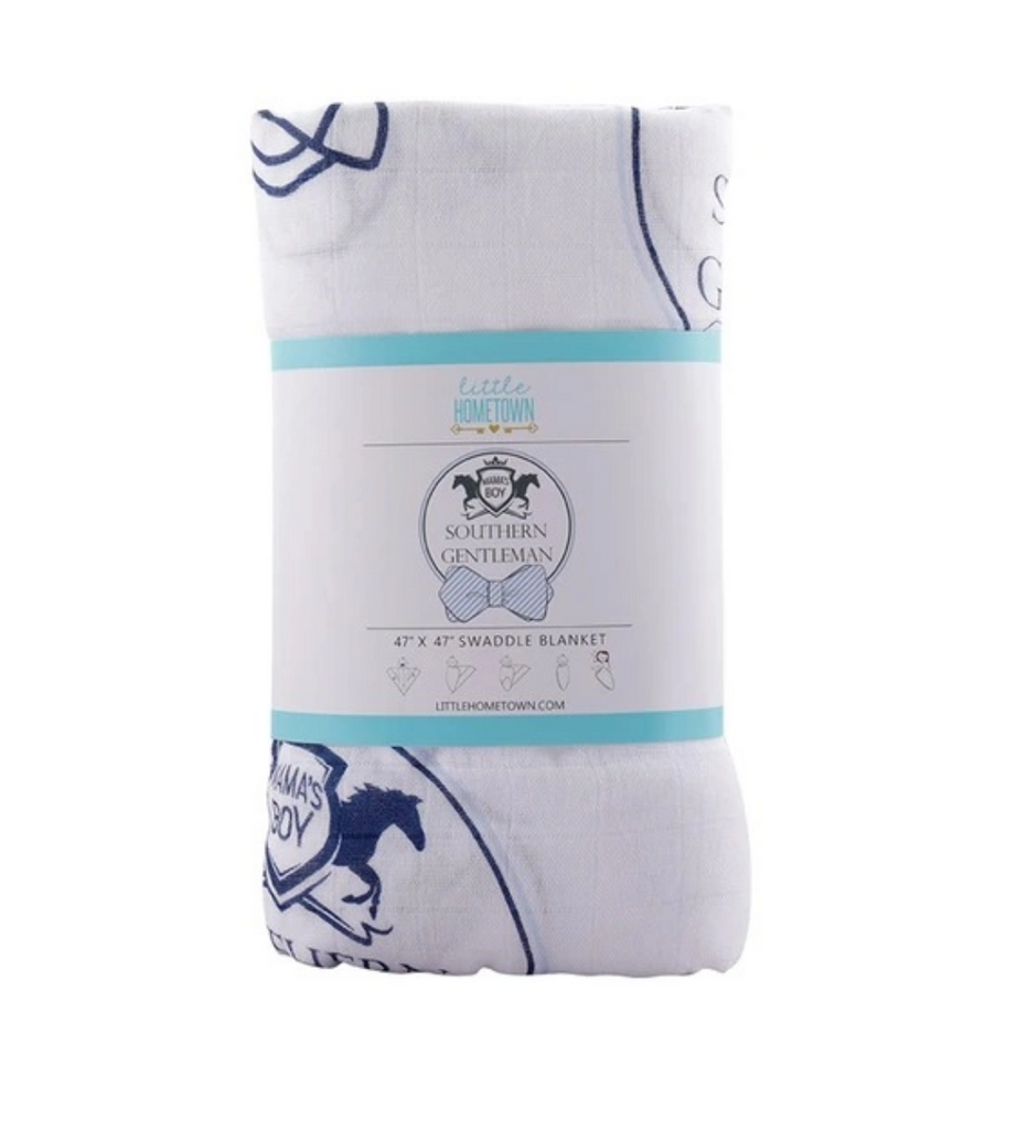 Southern Gent Baby Swaddle Blanket