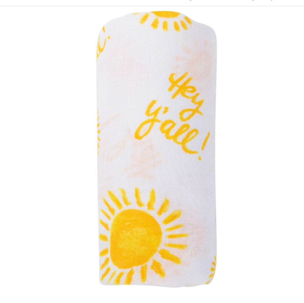 Hey Y'all Sunshine Baby Swaddle Blanket