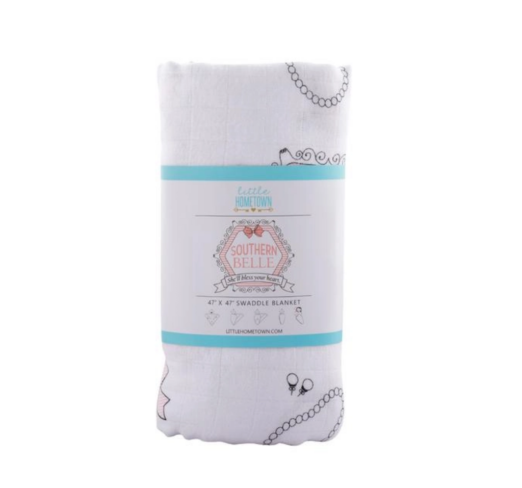 Southern Belle Baby Swaddle Blanket