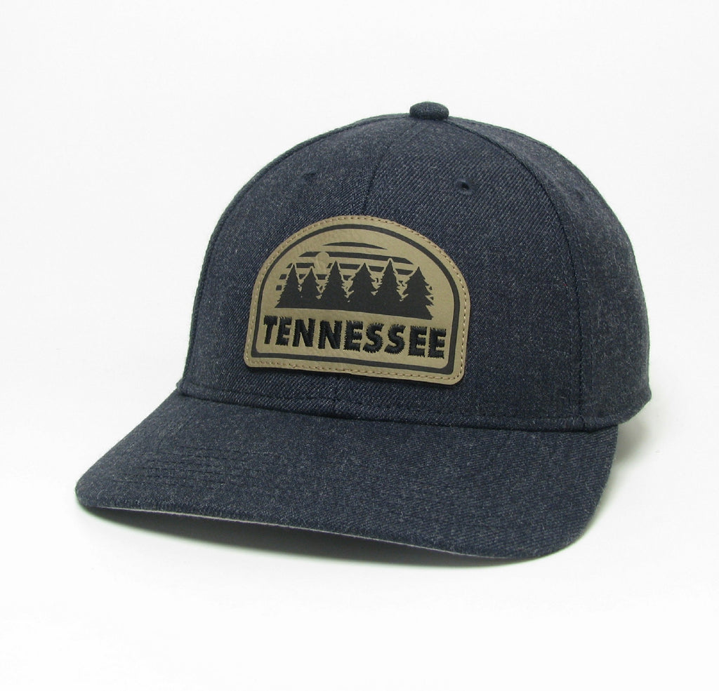 Heather Navy Hat TN Tree Scene Patch
