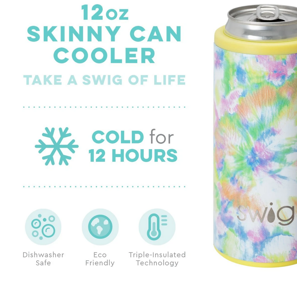 Swig You Glow Girl 12oz Skinny Can Cooler