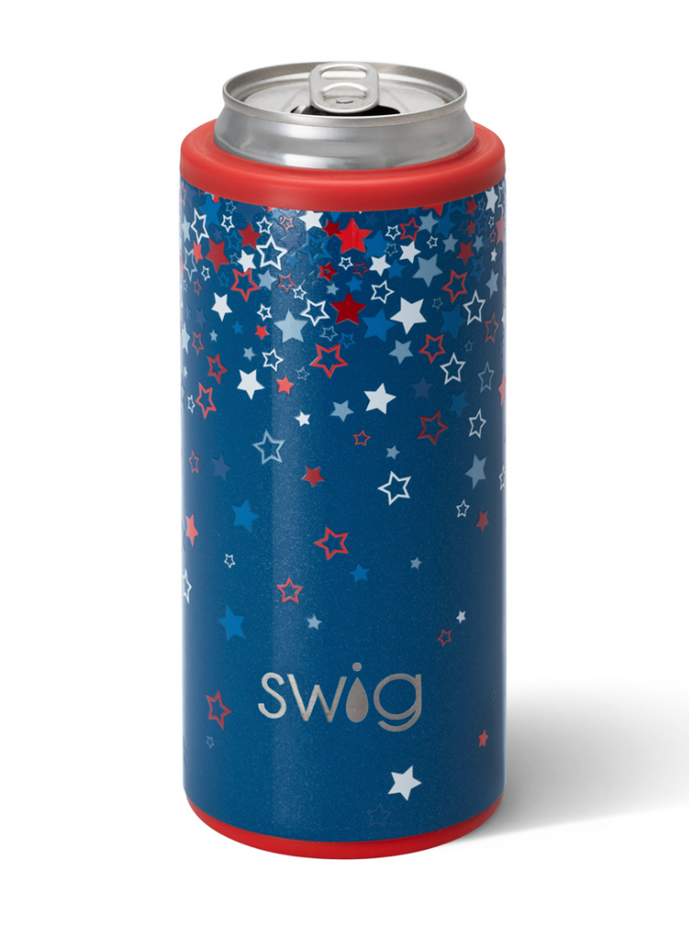 Swig 12oz Skinny Can Cooler - Star Burst