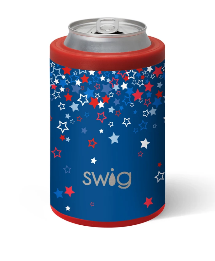 Swig 12oz. Combo Can/Bottle Cooler - Star Burst