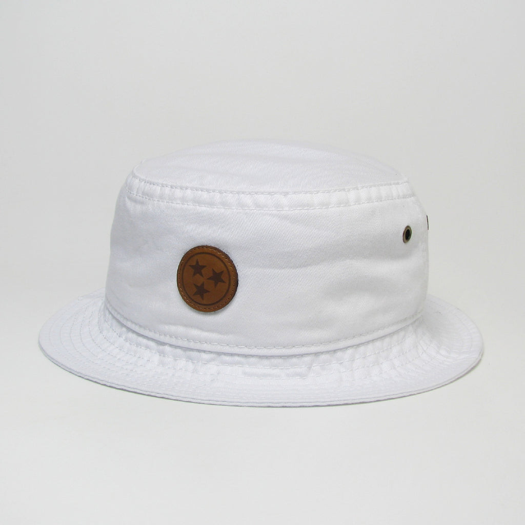 TriStar Leather Patch Bucket Hat