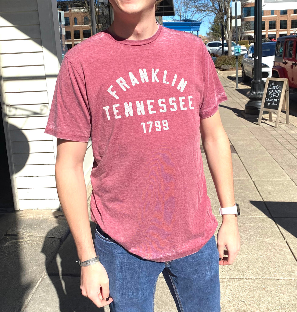 Franklin TN Burg Burnout Crewneck
