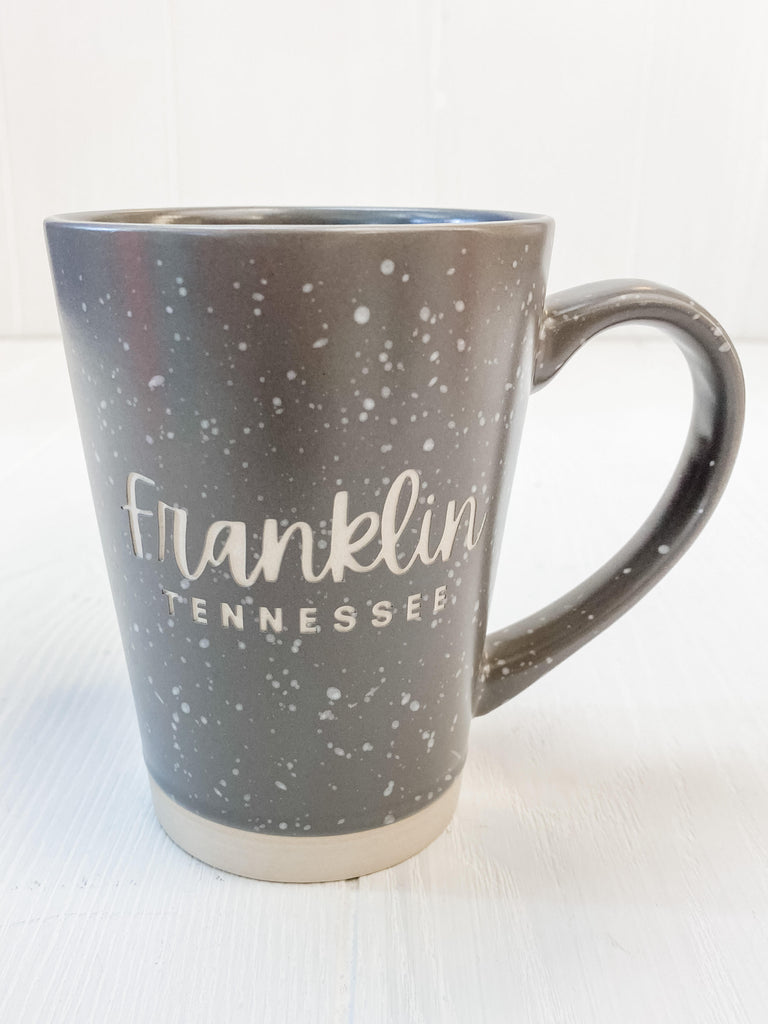franklin script gray Earthstone Mug -16 oz