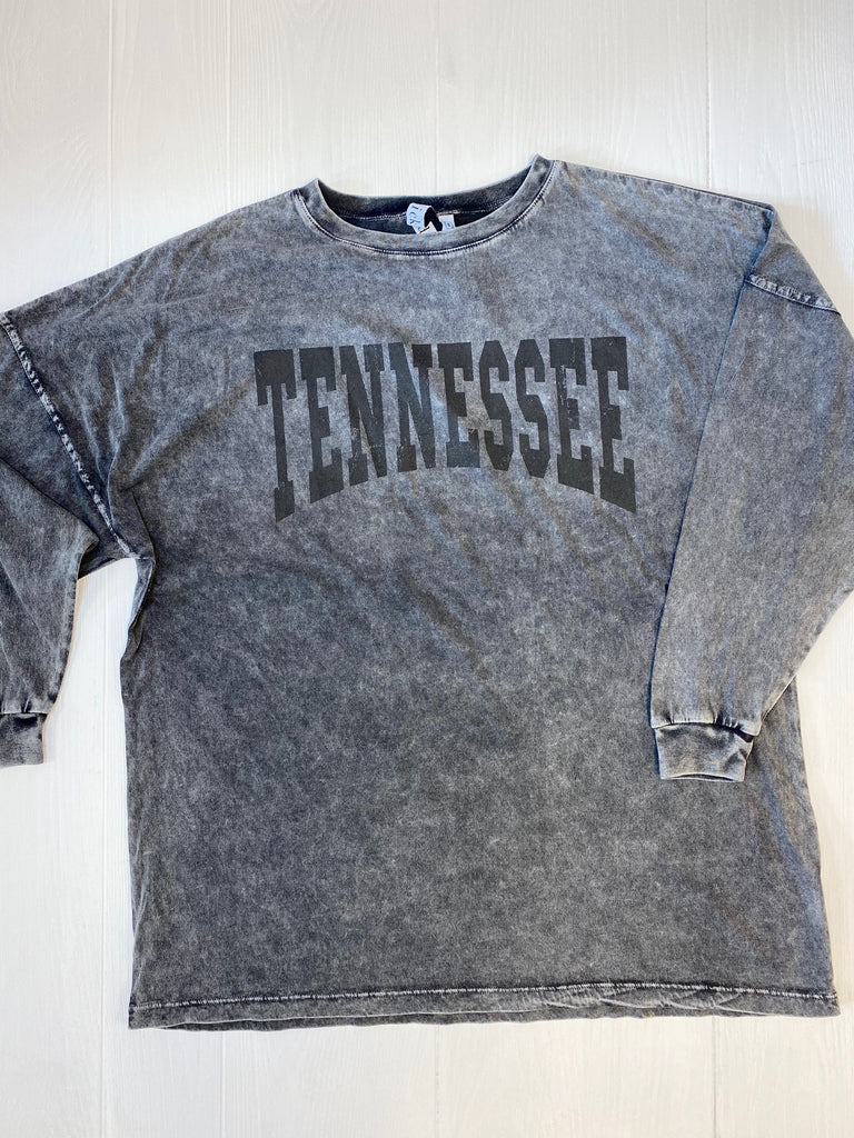 TENNESSEE Big Shirt - Mineral Wash Black
