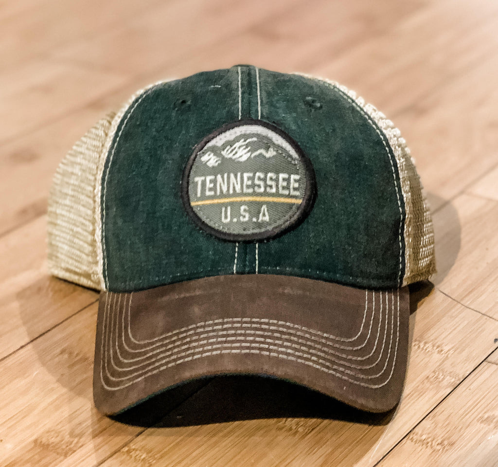 Green/Brown Trucker w/ TN Stamp