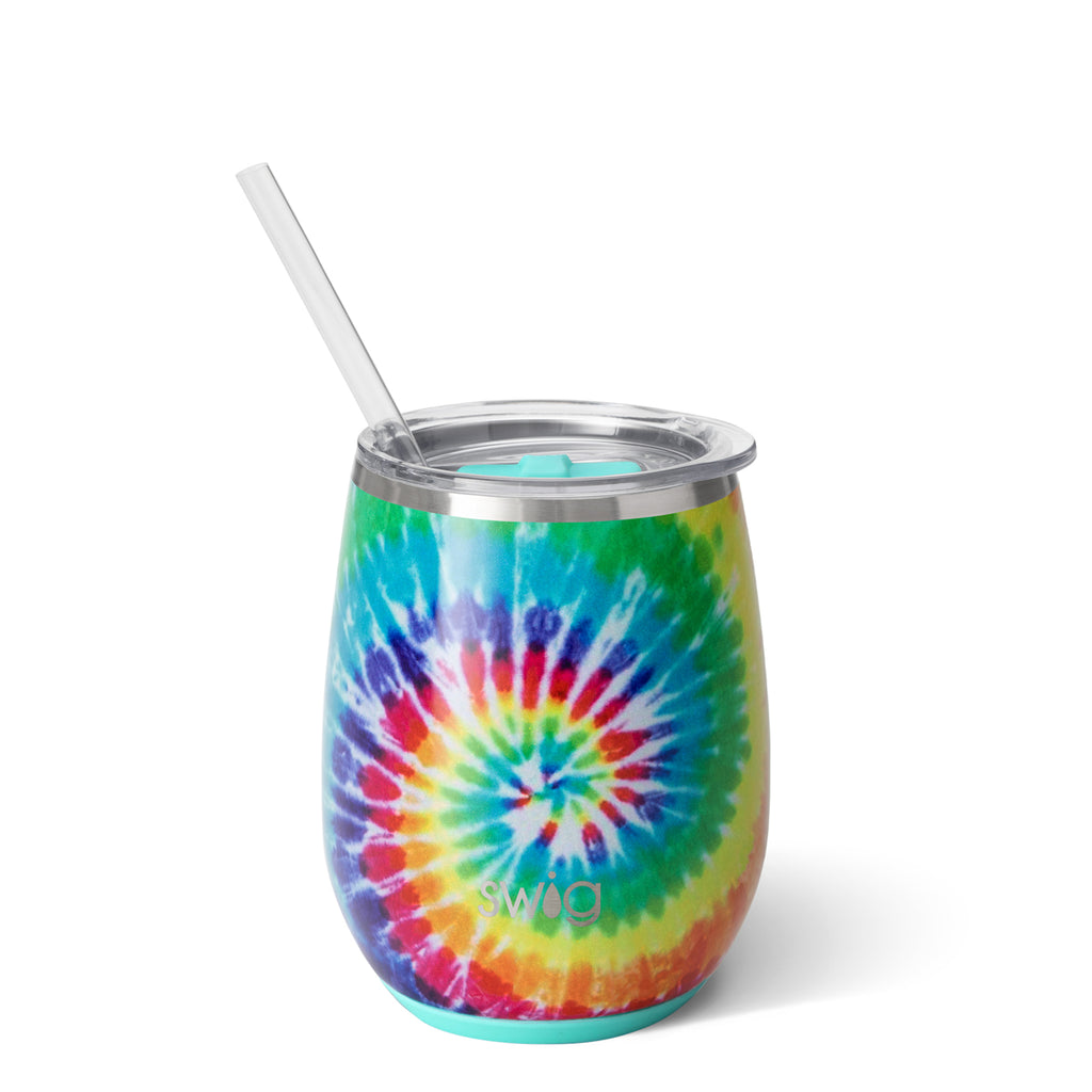 Swig Swirled Peace 14oz Stemless Wine