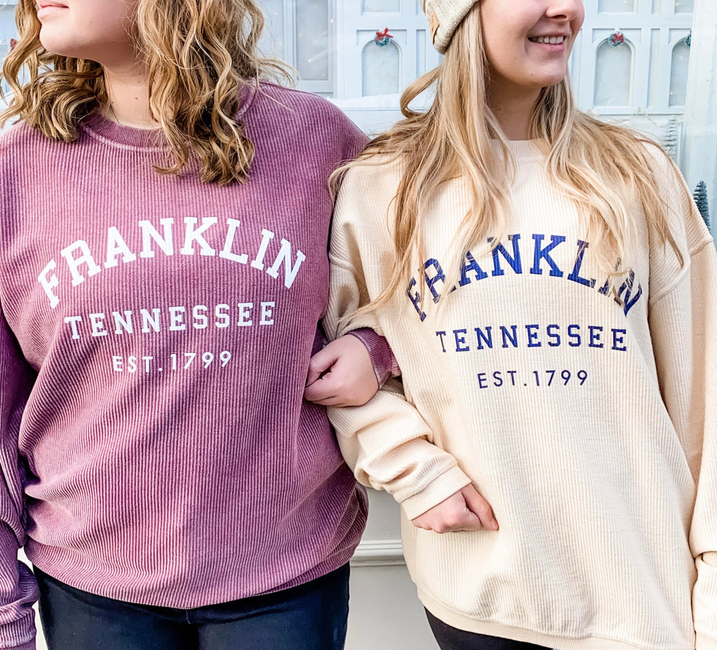 Franklin Corded Neutral Sweatshirt