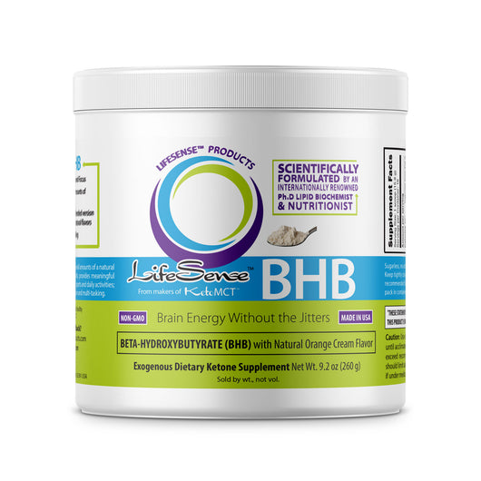 BHB Salts Exogenous Ketones Supplement, ENERGY BOOSTER WITHOUT JITTERS, one of the few fully made in USA formulas, Natural Orange Cream Flavor, 9 oz (260 g) <br/><sub>SAVE WITH MULTI-PACKS</sub> Currently 25% OFF