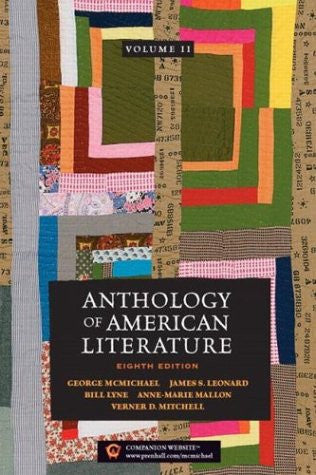 Anthology of American Literature, Vol. 2 by McMichael, George; Leonard, James...