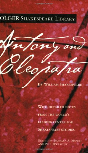 Antony and Cleopatra (Folger Shakespeare Library) [Mass Market Paperback] by ...
