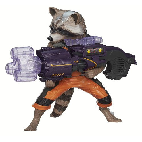 Marvel Guardians of The Galaxy Big Blastin' Rocket Raccoon Figure, 10 Inch [Toy]