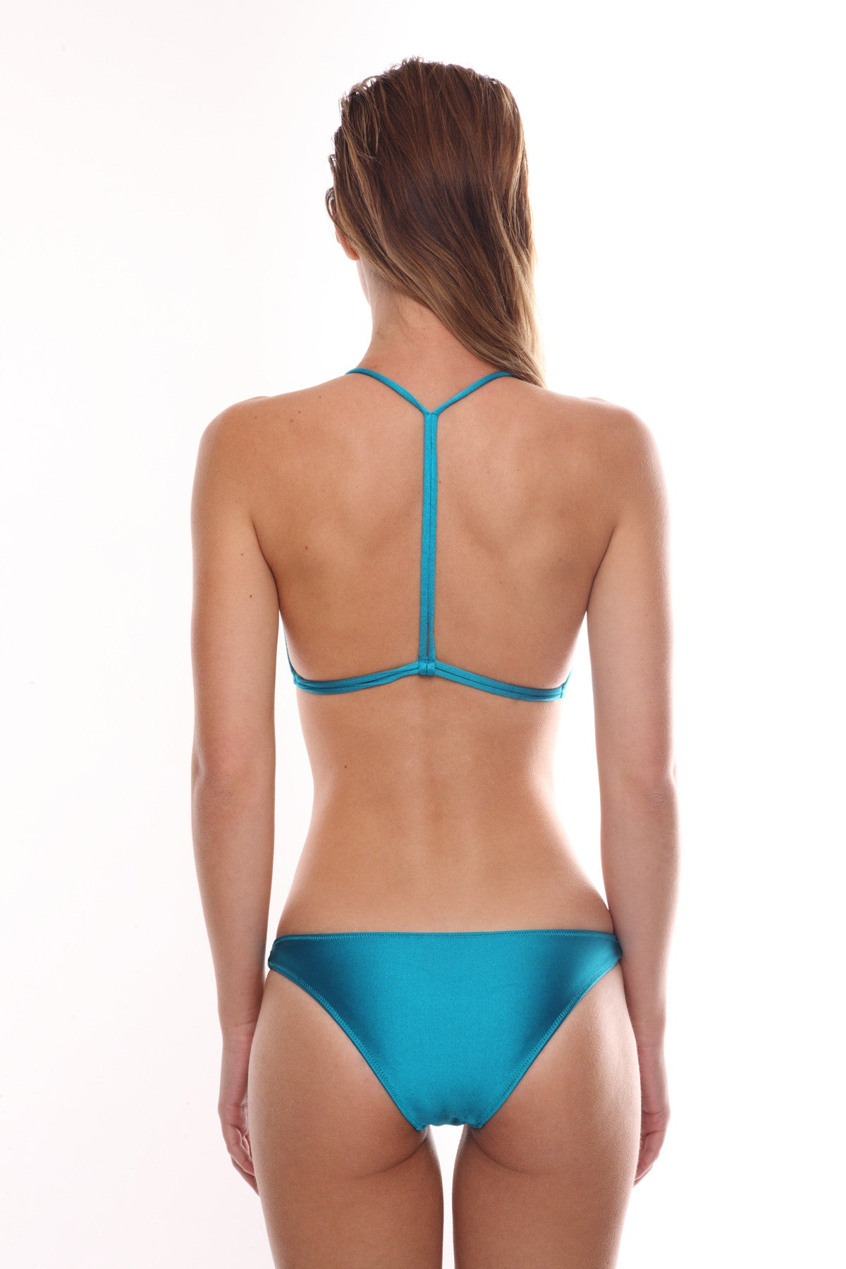 Midnight Swimwear-Bondi Aqua Blue Bikini Top and Bottoms