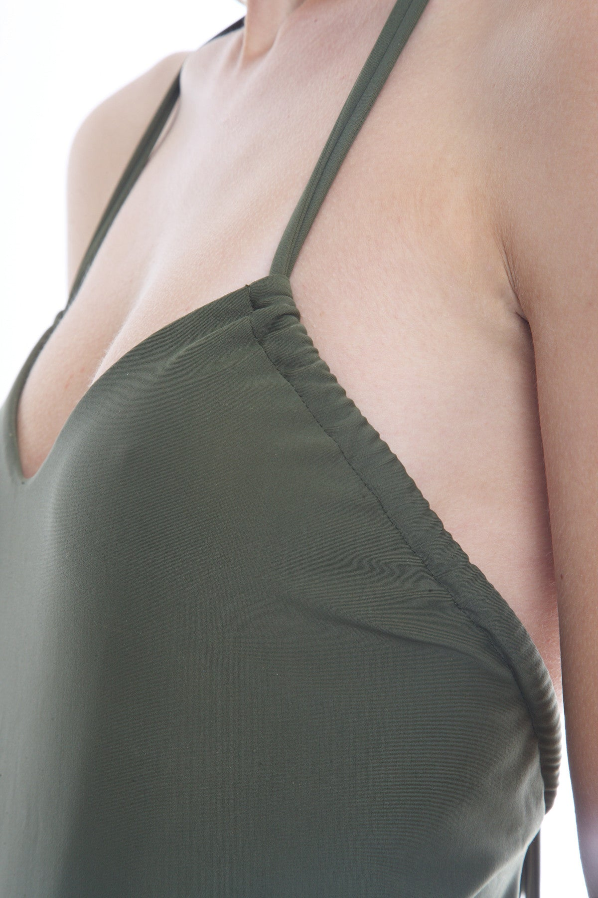 Midnight Swim-Cote d'Azur Khaki One Piece Swimsuit