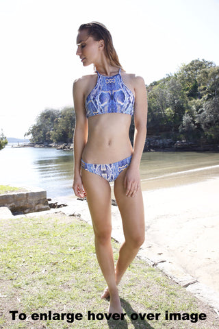 Aqua Blu-Key Hole Bikini Top and Pant