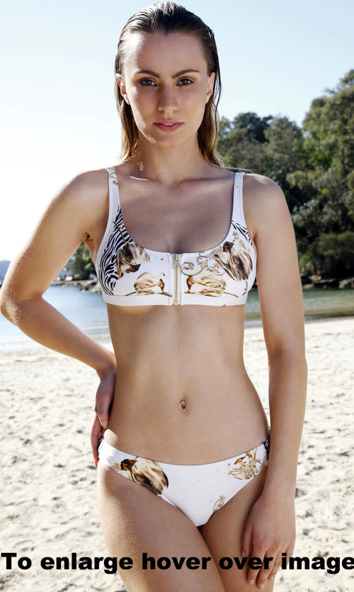 We Are Handsome-Basque Bikini-Zip Crop top and Regular Pant