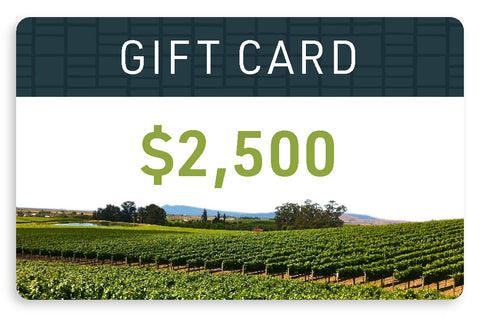 $2,500 Electronic Gift Card