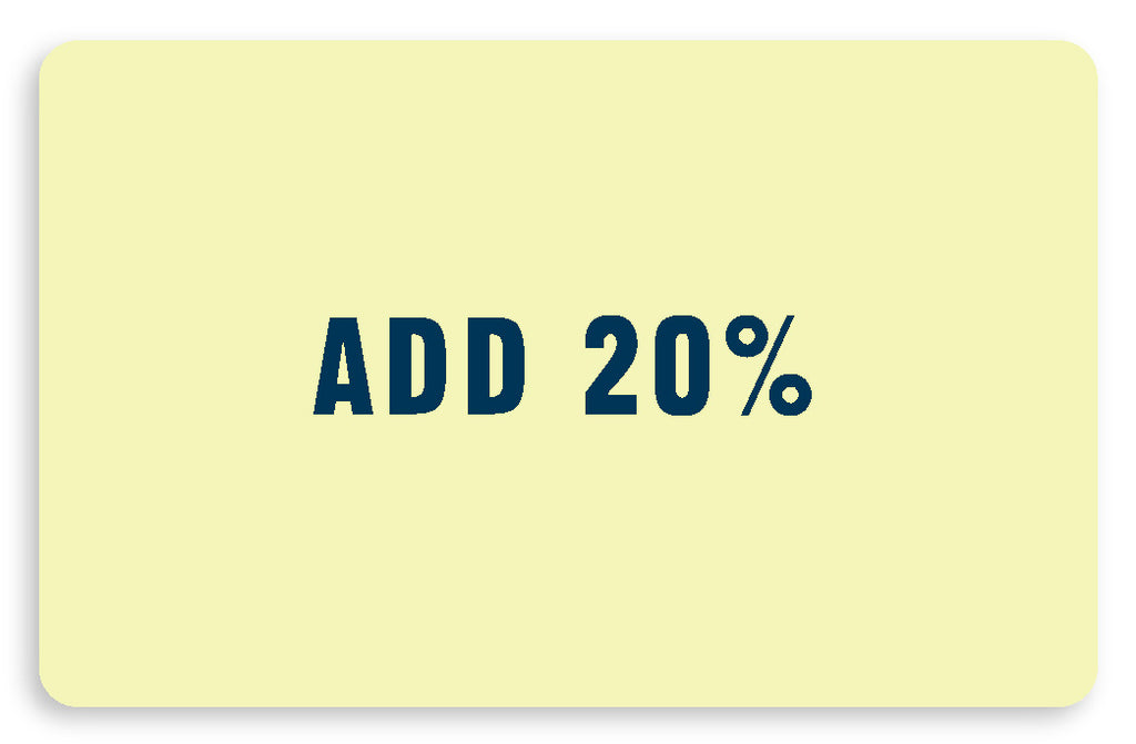 20% Added Value