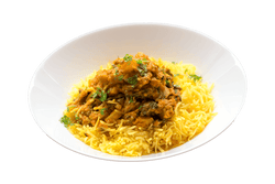 Butternut Lentil Stew with Saffron Basmati