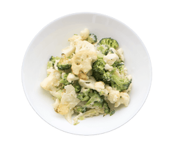 Cheesy Cauliflower and Broccoli Bowl