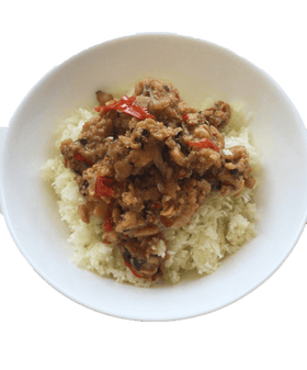 Thai Basil Omnipork with Cauliflower Rice