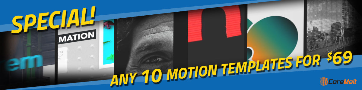 VFXMarket Special: Any 10 Motion Templates for $69