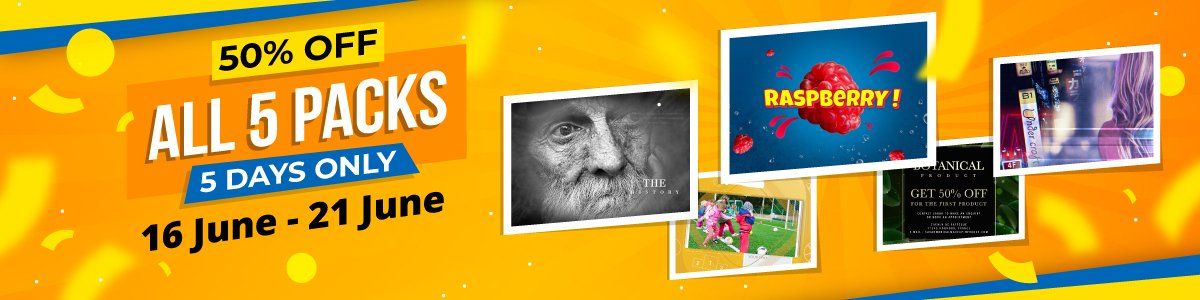 Motion template 5 packs, 50% off for five days only
