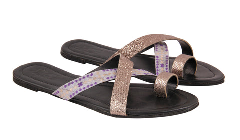 Cross-band Brocade Sliders