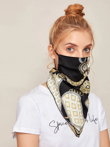 Ten on Ten Stylish Scarf with Mask Adult Mask
