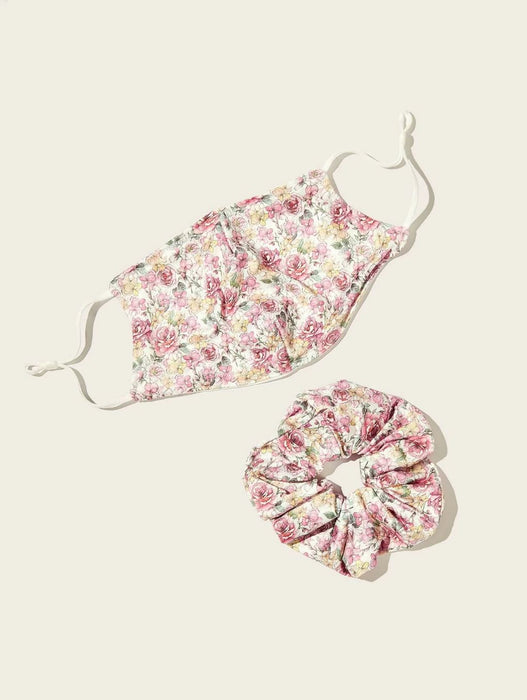 Ten on Ten Floral Mask Scrunchie Pack