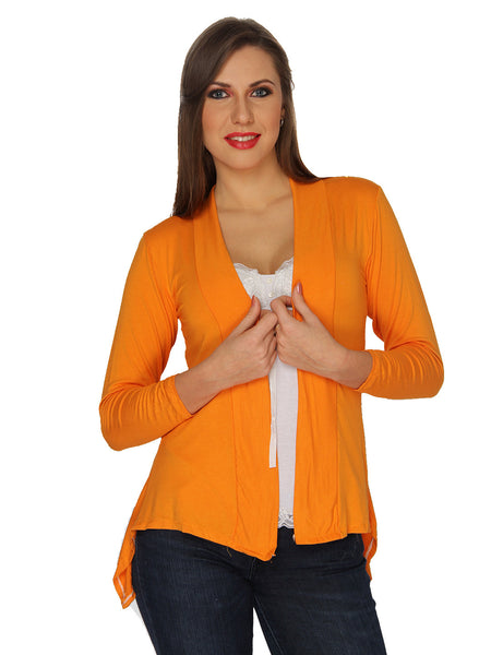 Ten on Ten Women's Pair of Orange/ Black Long Shrug