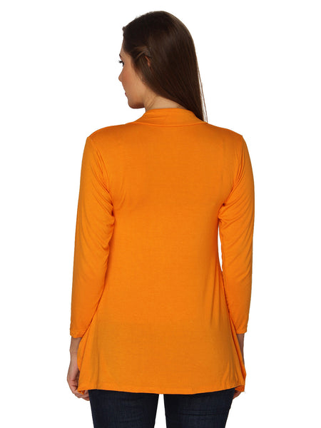 Ten on Ten Women's Pair of Orange/ Yellow Long Shrug