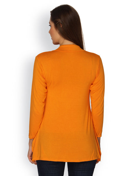Ten on Ten Women's Pair of Orange Long Shrug