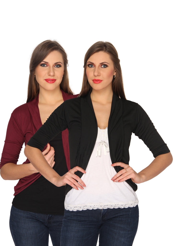 Ten on Ten Women Half Sleeve Shrug
