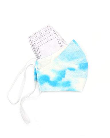 Ten on Ten Tie Dye Blue Adult Mask