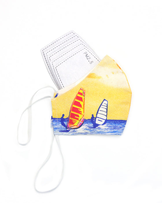 Let's Surf Face Mask (Yellow)